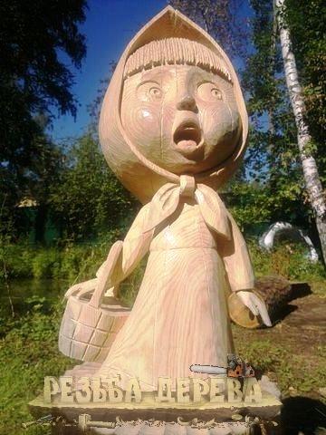 Садовая деревянная скульптура