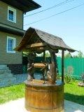 Колодезный домик в восточном стиле с драконом | Колодезный домик