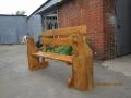 Скамейка с резными зверюгами | Мебель для парка, дачи и сада из дерева