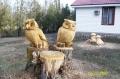 Скульптура из дерева - совы | Резьба бензопилой - Скульптура из дерева