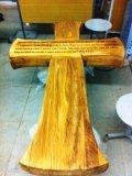 Резной крест из дерева | Резные работы из дерева, изготовленные на 3D станке с ЧПУ