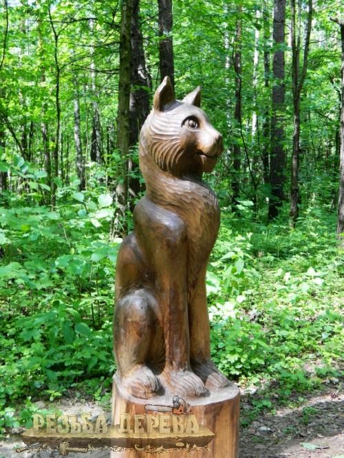 Деревянная парковая скульптура