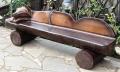 Скамейка из бревна | Мебель для парка, дачи и сада из дерева
