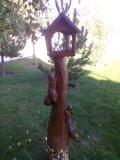 Кормушка для птиц и белок из дерева игривые бельчата. | Кормушки для птиц
