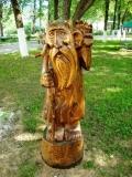 садовая фигура из дерева лесовичок | Садовая деревянная скульптура