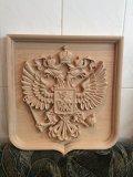 Герб России из дерева на чпу станке. | Резные работы из дерева, изготовленные на 3D станке с ЧПУ