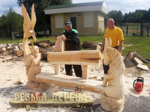 Сборка деревянной скамейки