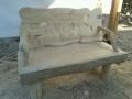 Скамейка из массива дерева с резной спинкой | Мебель для парка, дачи и сада из дерева