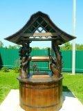 Китайский колодец с резным драконом | Колодезный домик