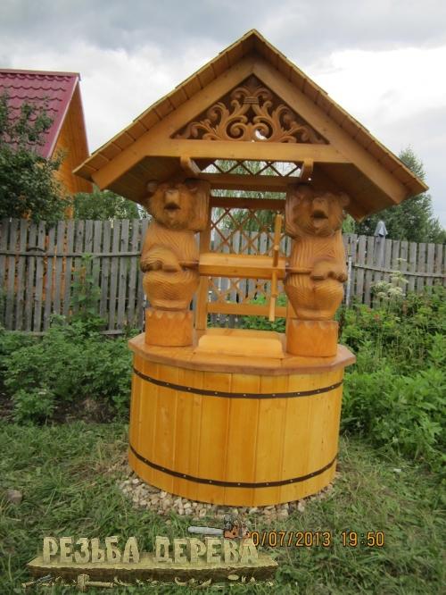 Колодезный домик с мишками