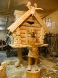 Деревянная садовая скульптура Добби друг Гарри Поттера | Садовая деревянная скульптура