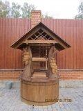 Колодезный домик с резными совами | Колодезный домик