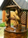 Белочки из дерева на колодезном домике | Домик для колодца