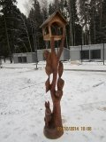 Резная красотень в Зеленограде. | Вольерный комплекс в Крюковском лесопарке Зеленограда