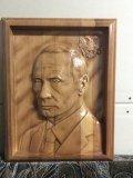 Портрет президента, резьба на чпу станке. | Резные работы из дерева, изготовленные на 3D станке с ЧПУ