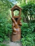 деревянная фигурка кормушка для птиц и белок | Садовая деревянная скульптура