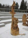 Резные изделия. Зеленоград. | Вольерный комплекс в Крюковском лесопарке Зеленограда