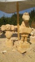 Крокодил Гена и Чебурашка из дерева | Детские городки
