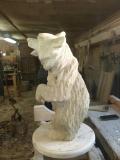 Медведь в профиль | Садовая деревянная скульптура