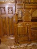 Фрагмент встроенной мебели, прорезная резьба, плоскорельефная резьба, материал дуб. | Плоскорельефная резьба