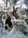 Ледяная копия статуи Свободы | Ледяные скульптуры в Москве