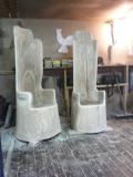 Трон из дерева | Мебель для парка, дачи и сада из дерева
