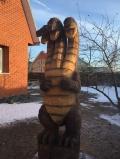 деревянная садовая скульптура Змей Горыныч | Садовая деревянная скульптура