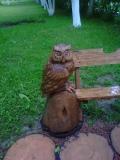 Сова на скамейке из дерева | Мебель для парка, дачи и сада из дерева