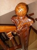 Элемент лестницы. Забежной столб. Плоскорельефная резьба. | Плоскорельефная резьба