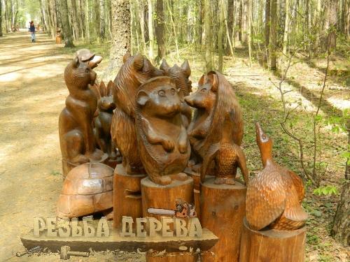 Деревянные скульптуры для ЛОСИНОГО ОСТРОВА