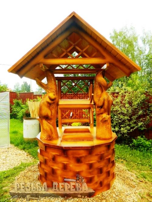 Деревянный дом для колодца