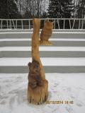 Скульптурная композиция. Зеленоград. | Вольерный комплекс в Крюковском лесопарке Зеленограда