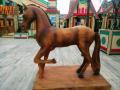 Лошадь из дерева. | Фестивальная площадка на Святоозерской улице. Москва, Косино-Ухтомское.