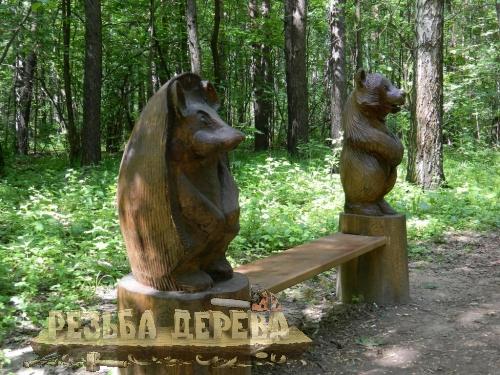Скамейка в парке ЛОСИНЫЙ ОСТРОВ