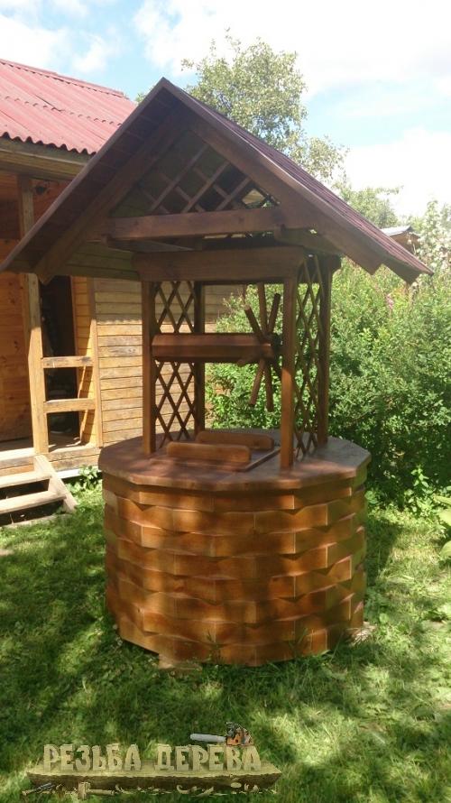 Колодезный домик без скульптур