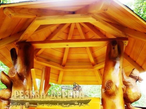 Крыша домика для колодца