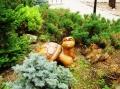 деревянные фигурки животных и птиц черепаха | Садовая деревянная скульптура