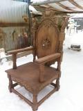 Резной трон | Садовая деревянная скульптура