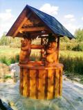 Колодец из дерева | Домик для колодца