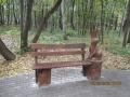 Скамейка с зайцем из дерева | Мебель для парка, дачи и сада из дерева