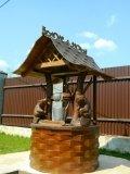 Красивый домик колодца из дерева с бобрами | Домик для колодца