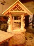 Домик для колодца с совами на ветках дерева | Домик для колодца