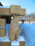 Скульптура медведя в ограде дома | Скульптуры