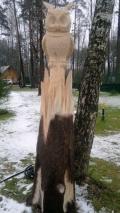 Деревянная садовая скульптура на корню | Скульптура на корню