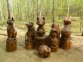 Резные зверушки для парка ЛОСИНЫЙ ОСТРОВ | Парк «Лосиный остров»