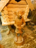 Деревянная садовая скульптура Добби | Садовая деревянная скульптура