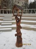 Кормушка для белок и птиц в Крюковском лесопарке | Вольерный комплекс в Крюковском лесопарке Зеленограда