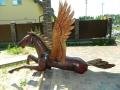 Пегас из дерева | Садовая деревянная скульптура
