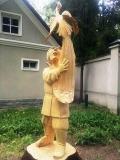 деревянная садовая скульптура сказочные персонажи | Садовая деревянная скульптура