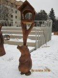 Кормушка с мишкой в Крюковском лесопарке | Вольерный комплекс в Крюковском лесопарке Зеленограда